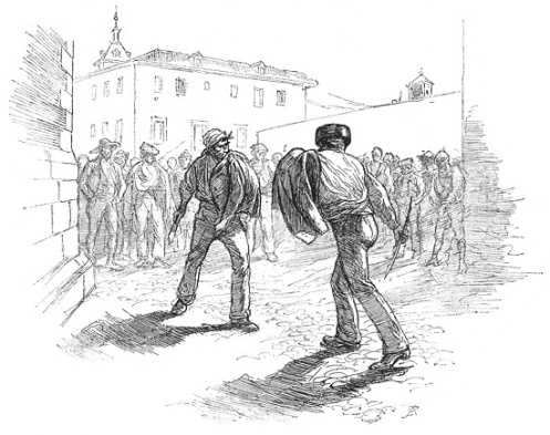 A duel with Spanish navajas. Source: www.cervantesvirtual.com
