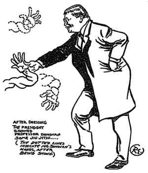 Cartoon of Roosevelt by Robert Edgren, ca 1904. Source: EJMAS