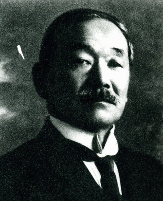 Above: Photo of Jigoro Kano, taken about the time of Clarke's visit. Source: http://www.judobalwyn.org.au/judo/judohistory.htm