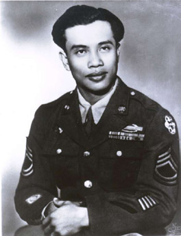 Above: Leo Giron during World War II