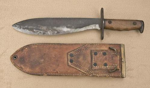 Above: WWI U.S.-issued bolo knife by A. C. Co. of Chicago. Source: http://www.icollector.com