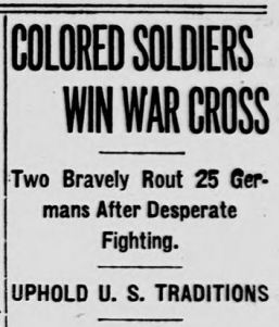 Above: Headline in the Washington D.C. Evening Star, May 20, 1918