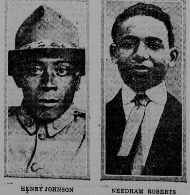 Above: Johnson and Roberts, in the New York Tribune