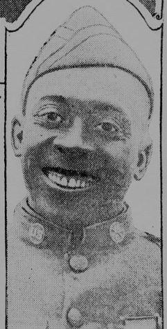 Above: Serjeant Henry Johnson, in the New York Tribune