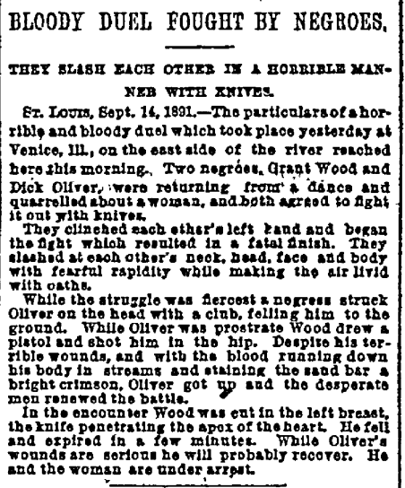 Above: New York Herald, Sept. 15, 1891