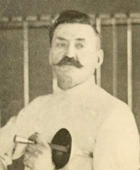 "Above: Regis Senac in later years, from ""The Art of Fencing,"" 1904."