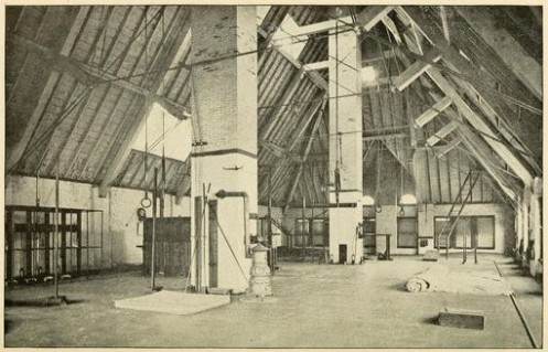 Above: Gymnasium of the  Philadelphia Fencing and Sparring Club.