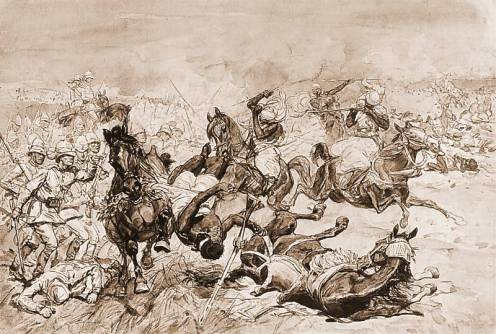 Charge at the Second Battle of El-Teb, by Josef Chelmonski.