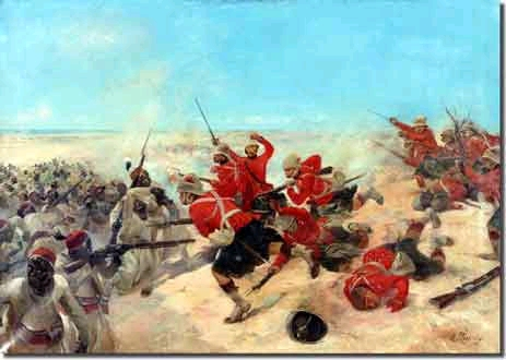 The famous battle of Tel-el-Kebir, by Henry Louis Dupray.