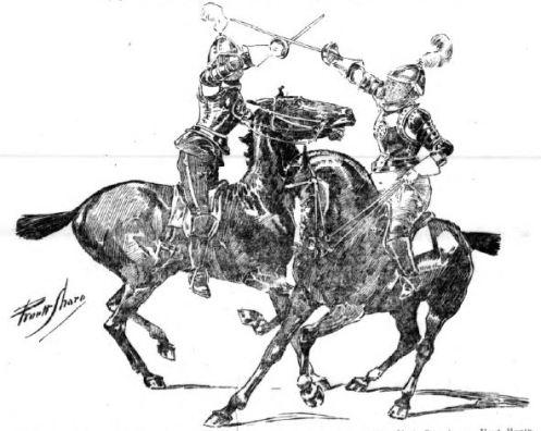 Above: Jaguarina practicing mounted combat