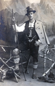 Man with alpenstock from Miesbach, Bavaria.