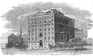 The Exchange Coffee House in Boston, where Tromelle and Girard taught and exhibited cane defense